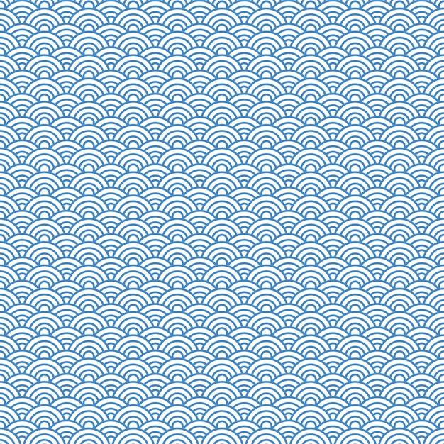 Japanischer muster hintergrund. vektor-illustration Premium Vektoren
