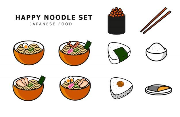 Japanisches essen festgelegt Premium Vektoren