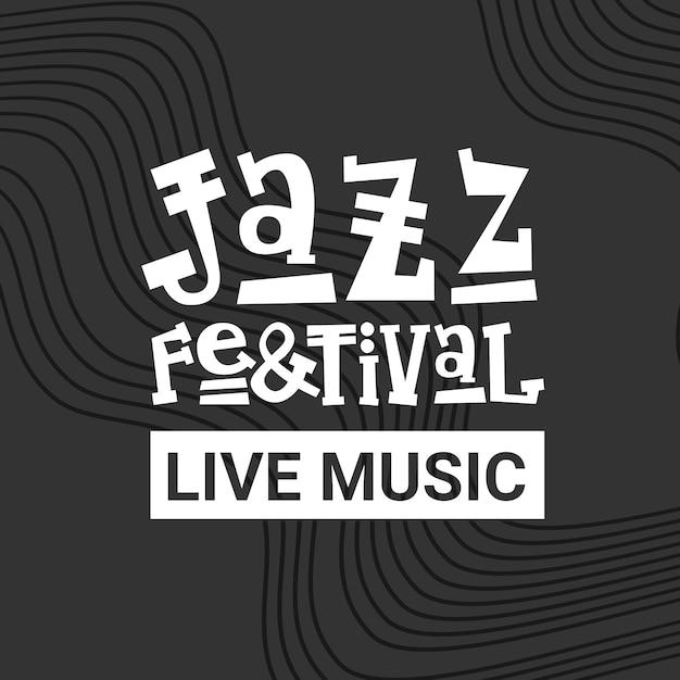 Jazz festival live musik konzert plakat werbung retro banner Premium Vektoren