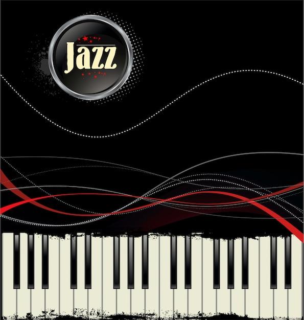 Jazz hintergrund Premium Vektoren