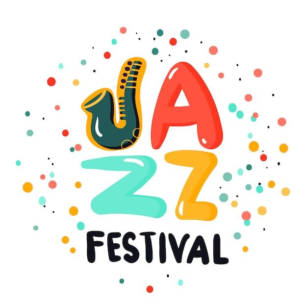 Jazz-zeichen-konzept Kostenlosen Vektoren