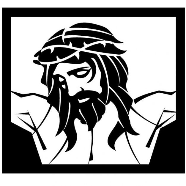 Jesus christus kreuzigung vektor-illustration Kostenlosen Vektoren