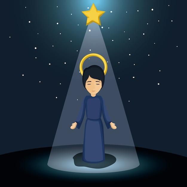 Frohe Weihnachten Jesus.Jesus Kind Cartoon Symbol Heilige Familie Und Frohe