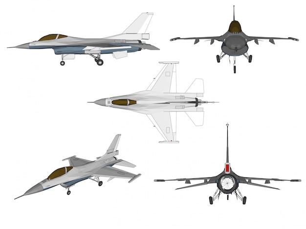 Jet-flugzeug-vektor Premium Vektoren
