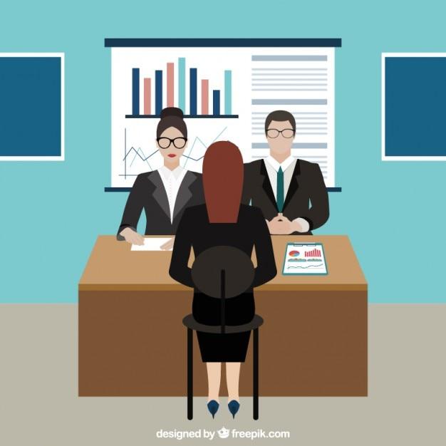 Job interview im b ro download der premium vektor for Buro premium