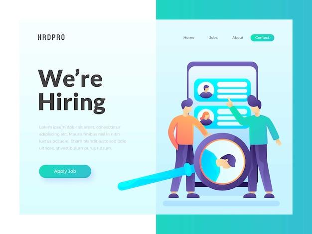 Jobsuche web template Premium Vektoren