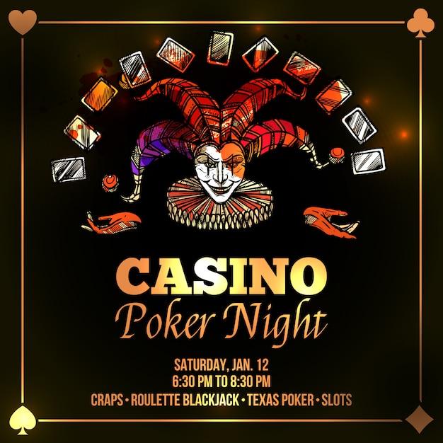 Joker poker illustration Kostenlosen Vektoren