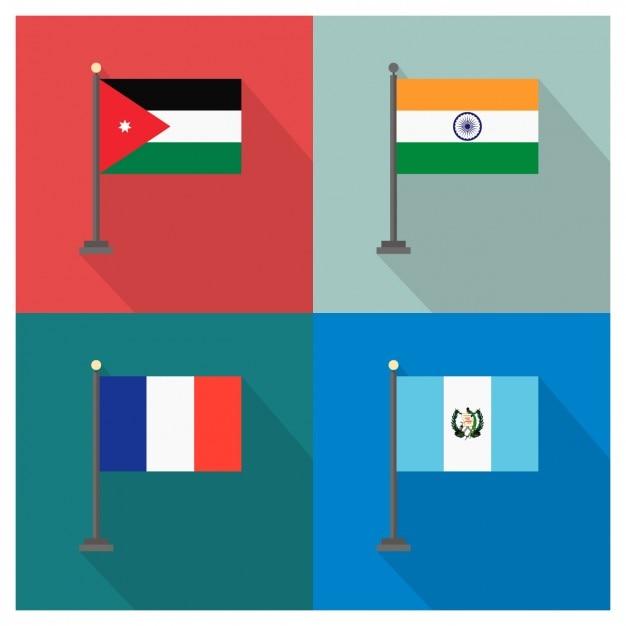 Jordanien Indien Guatemala Kostenlose Vektoren