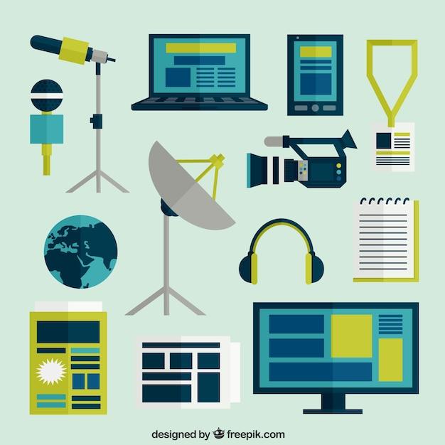 Journalismus symbole Kostenlosen Vektoren
