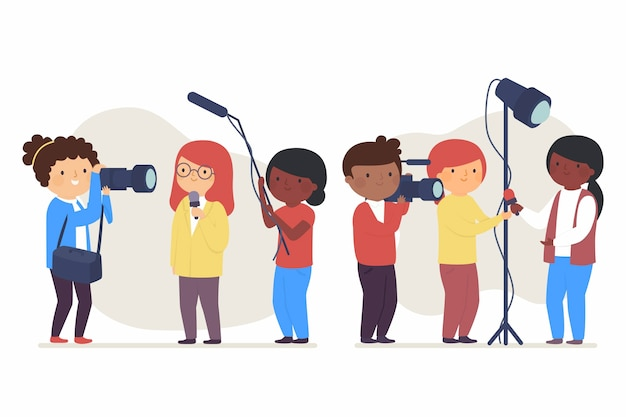 Journalistenpaket Kostenlosen Vektoren