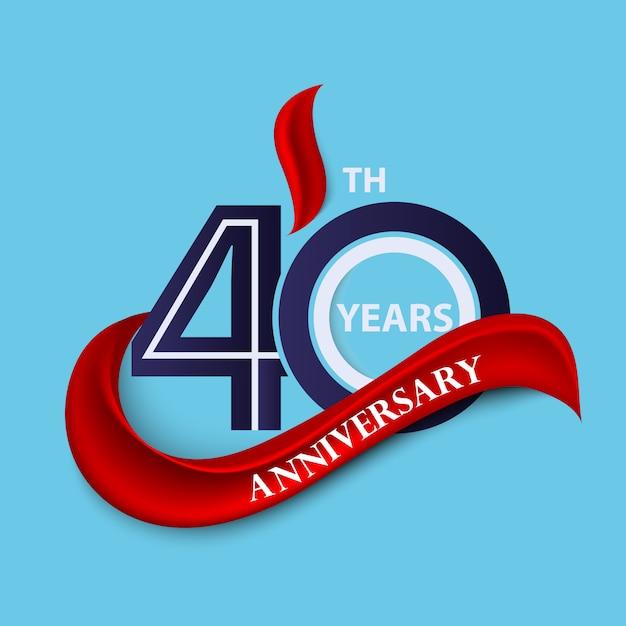 Jubiläumszeichen und logo feier symbol Premium Vektoren