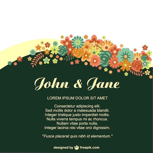 Jubiläum Floral Einladung für Ereignisse im Leben | Download der kostenlosen Vektor