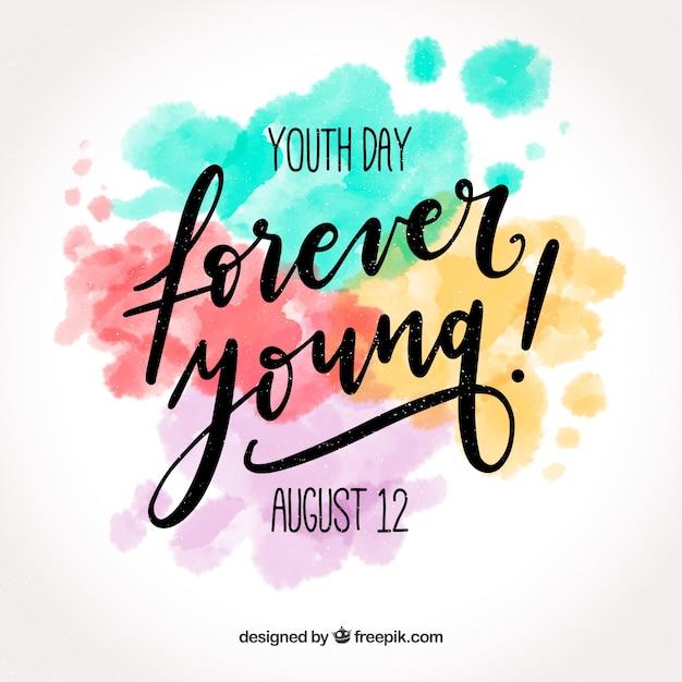Jugendtag hintergrund Kostenlosen Vektoren