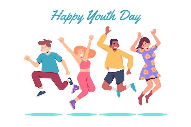 Jugendtag menschen springen Kostenlosen Vektoren