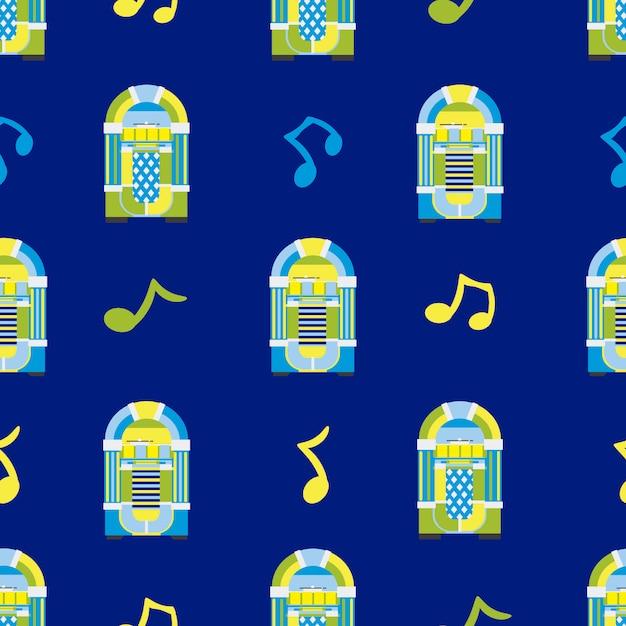 Jukebox muster hintergrund Kostenlosen Vektoren