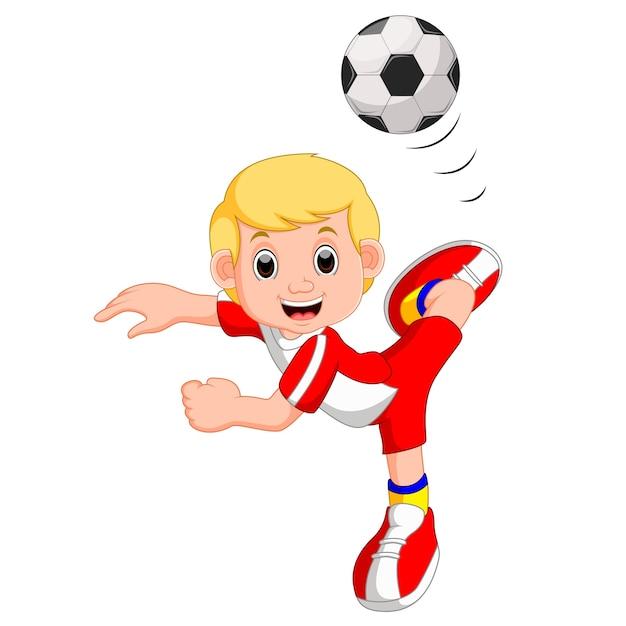 Fußball Spielen Comic