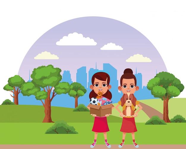Junge kinder avatar karton charakter Premium Vektoren