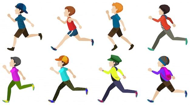 Junge rennt Kostenlosen Vektoren