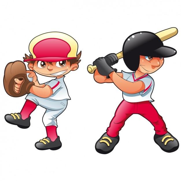Jungen spielen Baseball | Download der kostenlosen Vektor