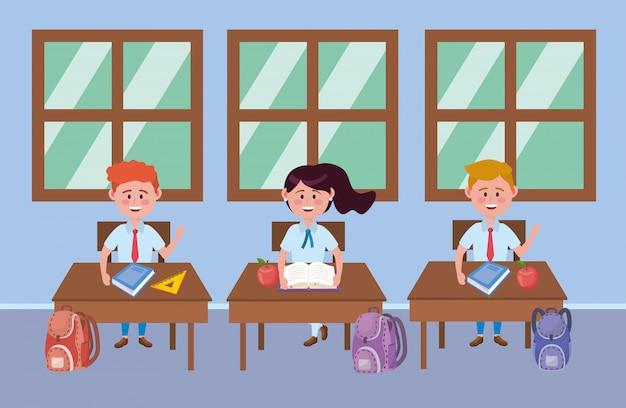 Jungen und mädchen kind der schule Kostenlosen Vektoren