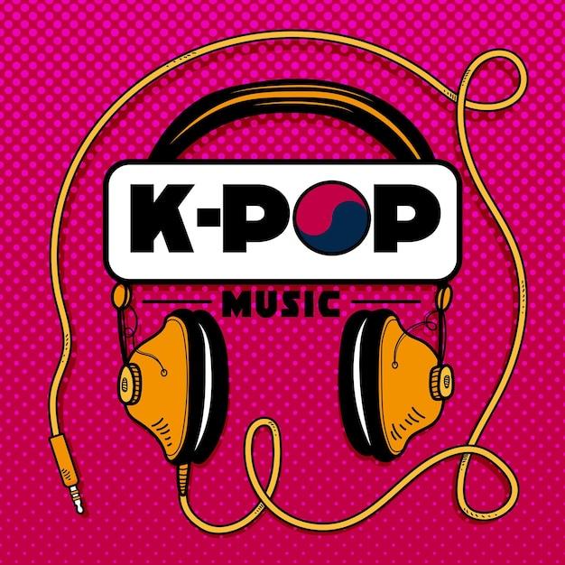 K-pop musikkonzept Kostenlosen Vektoren