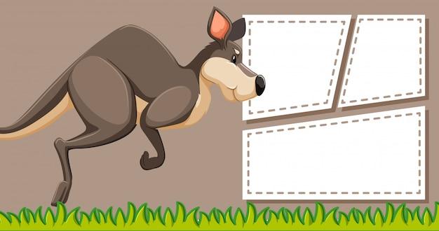 Känguru auf hinweis vorlage Kostenlosen Vektoren