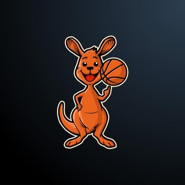 Känguru-logo-sport Premium Vektoren