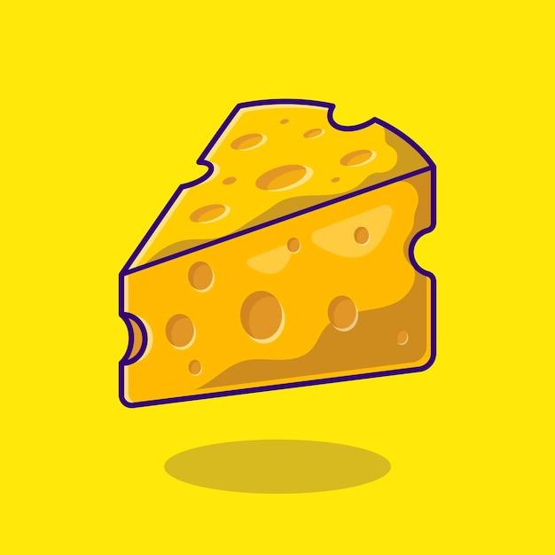 Käse-karikatur-symbol-illustration. Kostenlosen Vektoren