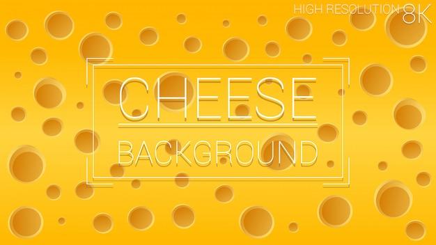 Käse löcher essen. dynamischer strukturierter gelber hintergrund. bunte formzusammensetzung. Premium Vektoren