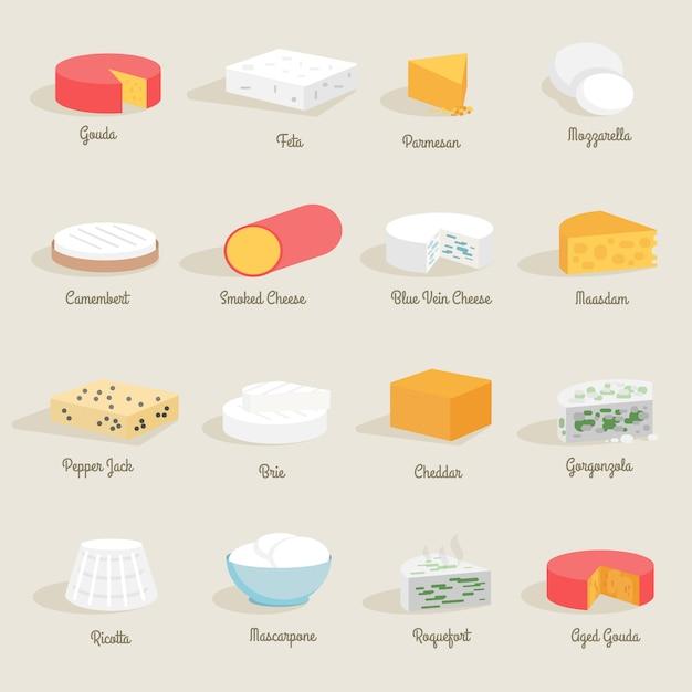 Käse-symbol flach Kostenlosen Vektoren