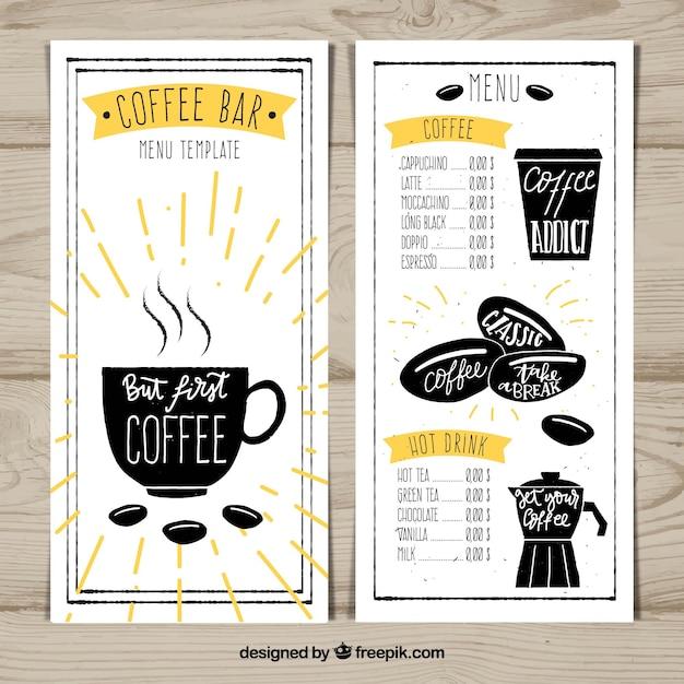 Kaffee-Bar-Menü-Design | Download der kostenlosen Vektor