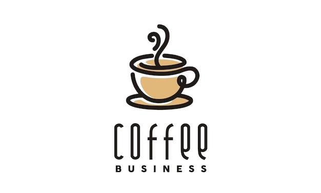 Kaffee / cafe-logo-design Premium Vektoren