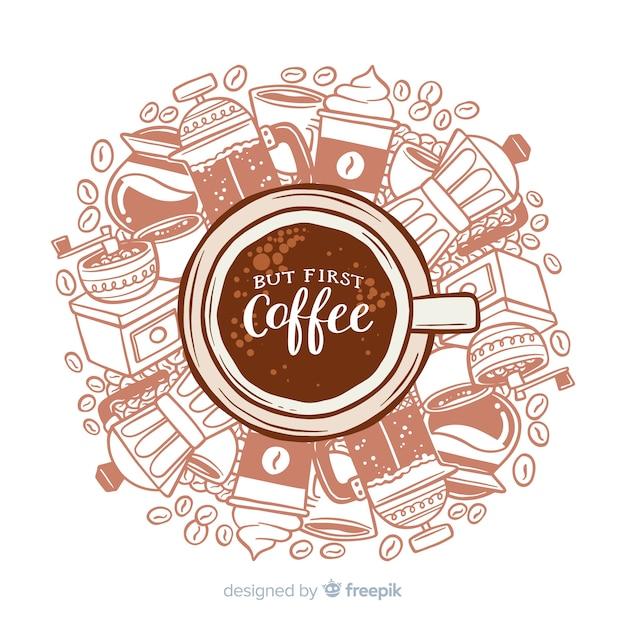 Kaffee hintergrund Kostenlosen Vektoren