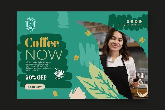 Kaffee jetzt banner web-vorlage Kostenlosen Vektoren