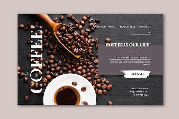 Kaffee-landingpage-vorlage Kostenlosen Vektoren