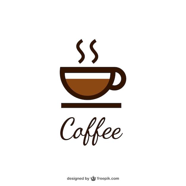 Kaffee-logo mit tasse Kostenlosen Vektoren