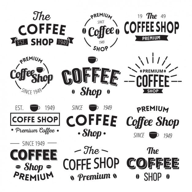 Kaffee-Logo-Vorlagen   Download der kostenlosen Vektor