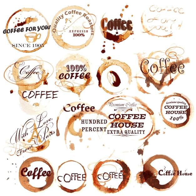 Kaffee-Logo-Vorlagen   Download der Premium Vektor
