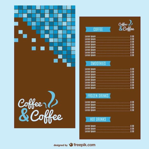 Kaffee-Menü-Vorlage Kostenlose Vektoren