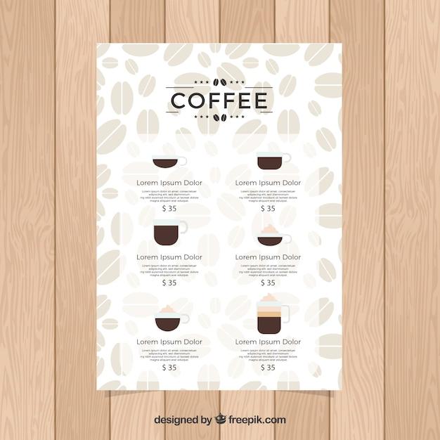 Kaffee-Menü | Download der kostenlosen Vektor