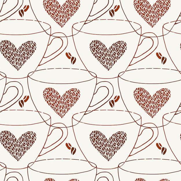 Kaffee muster Premium Vektoren