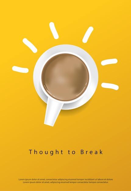 Kaffee poster werbung flyer vektor-illustration Kostenlosen Vektoren