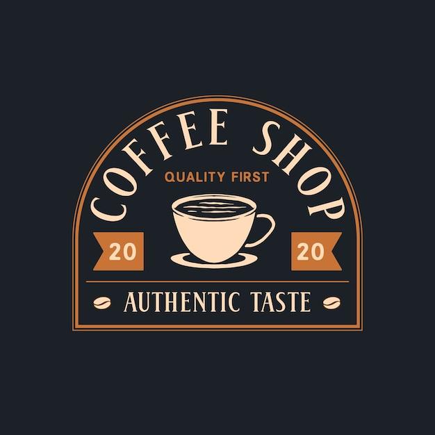 Kaffee-shop-abzeichen Premium Vektoren