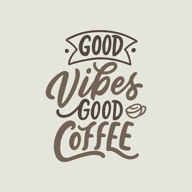 Kaffee-zitate Premium Vektoren