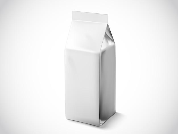 Kaffeebohnen- oder teeblattbeutel, illustrationsbeutelvorlage für verwendungszwecke, silberfolienbeutel Premium Vektoren