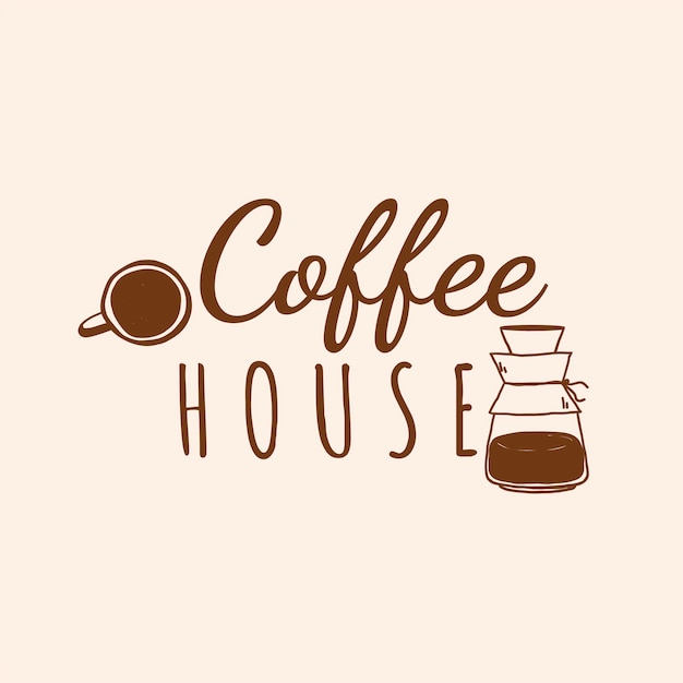 Kaffeehaus café logo vektor Kostenlosen Vektoren