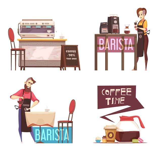 Kaffeehaus Kostenlosen Vektoren
