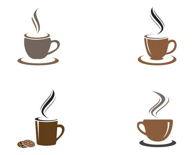 Kaffeetasse Logo Vorlage   Download der Premium Vektor