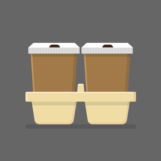 Kaffeetasse nehmen lokalisierte flache ikone weg Premium Vektoren