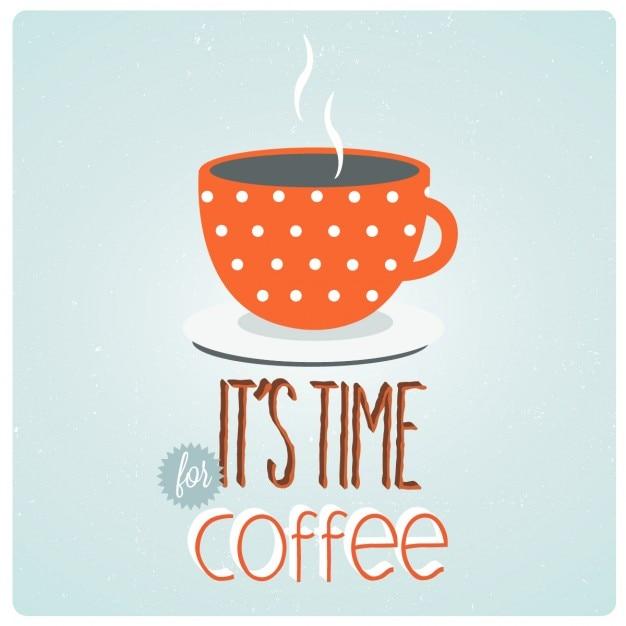 Kaffeezeit Kostenlosen Vektoren